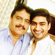 Amit Mishra with his father