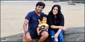 Rio Raj with his wife & daughter