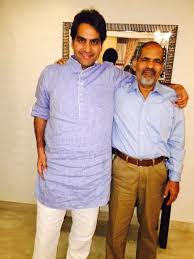 Sudhir Chaudhary with his father