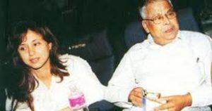 Urmila Matondkar with her father