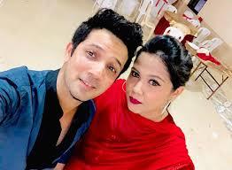 Mudassar Khan with his sister
