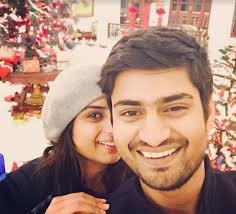 Amit Mishra with his girlfriend