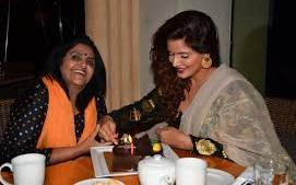 Neetu Chandra with her mother