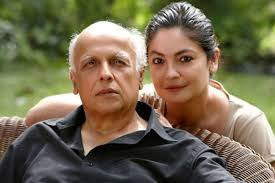 Pooja Bhatt with her father
