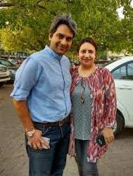 Sudhir Chaudhary with his wife