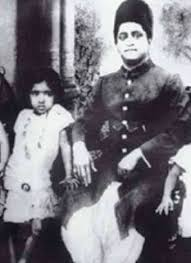 Lata Mangeshkar with her father