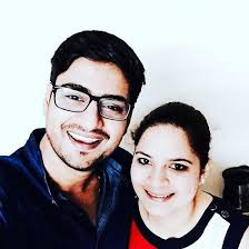 Amit Mishra with his sister