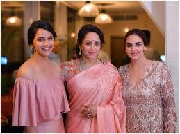 Hema Malini with her daughters