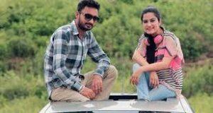 Kaur B with her boyfriend