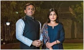 Akhilesh Yadav with his wife