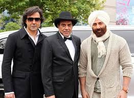 Dharmendra with sons