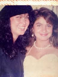 Pooja Bhatt with her mother