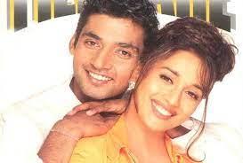 Madhuri Dixit with her ex-boyfriend Ajay