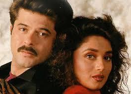 Madhuri Dixit with her ex-boyfriend Anil