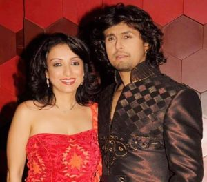 Sonu Nigam with his wife