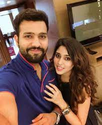 Rohit Sharma with his wife Ritika