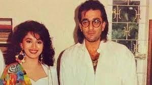 Madhuri Dixit with her ex-boyfriend Sanjay
