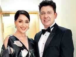 Madhuri Dixit with her husband Shriram