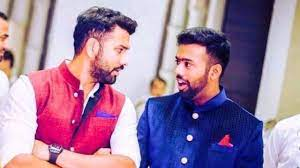 Rohit Sharma with his brother