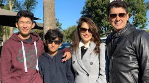 Madhuri Dixit with her husband & children