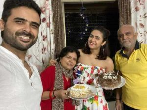 Madhurima Tuli with her family