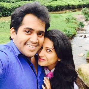 Rucha Hasabnis with her husband