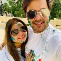 Rj Raunak with his wife