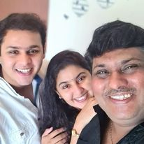 Dev Joshi with his parents
