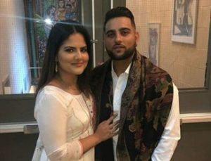 Karan Aujla with his girlfriend