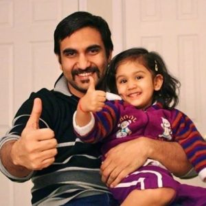 Lalit Shokeen with his daughter