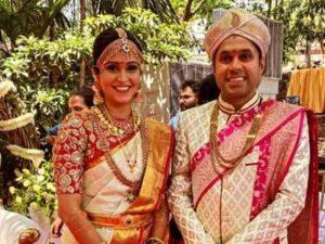 Ashitha Chandrappa with her husband