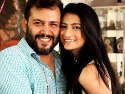 Palak Tiwari with her step-father Abhinav