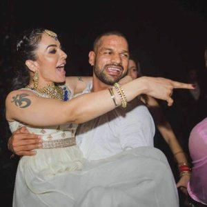 Ayesha Mukherjee with her husband