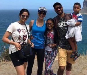 Ayesha Mukherjee with her husband & children