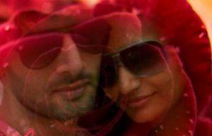 Aham Sharma with his wife