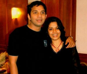 Karthik with his wife
