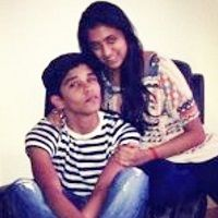 Dhruv Vikram with his sister