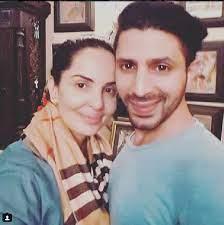 Rukshar Rehman with her husband Faruk