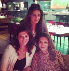 Nandita Mahtani with her mother & sister