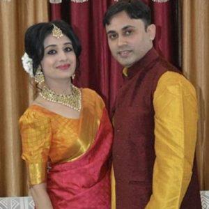 Paridhi Sharma with her husband