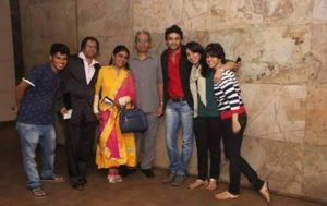 Tanvi Hegde with her family