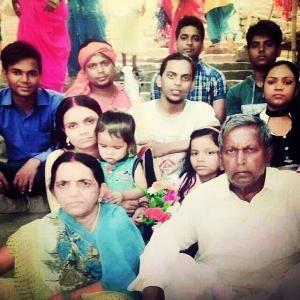 Ranjan Raj with his family