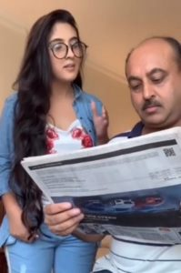 Sameeksha Sud with her father