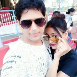 Sapna Sikarwar with her husband