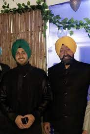 Rohanpreet Singh with his father