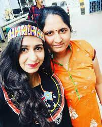 Kinjal Dave with her mother