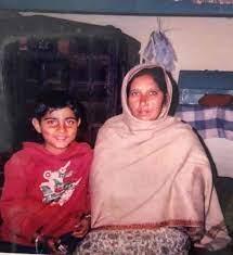 Karan Aujla with his mother