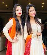 Nisha Guragain with her sister