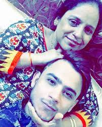 Millind Gaba with his mother
