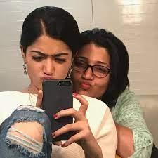 Rashmika Mandanna with her mother